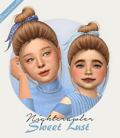 Nightcrawler Sweet Lust hair + acc for kids and toddlers by Simiracle for The Sims 4 The Sims 4 Kids, Sims 4 Children, The Sims 4 Pc, Sims 4 Cas, My Sims, Sims Cc, Sims 4 Mods Clothes, Sims 4 Clothing, Sims Mods