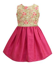 Another great find on #zulily! Jaipur Embroidered A-Line Dress - Infant, Toddler & Girls #zulilyfinds