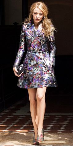 Blake Lively's Show-Stopping Trench Coat - WhoWhatWear.com  (Valentino from F/W 14 Collection)
