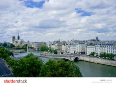 PARIS, FRANCE, AUGUST 6, 2013: view of the city from the Arab World Institute