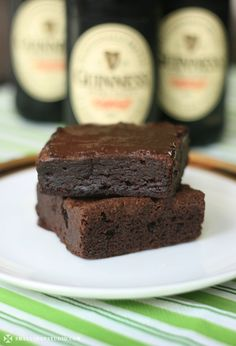 Guiness brownies. OMG! I may have to eat brownies for this one!     I made these today.....so yummy kids loved them warm with chocolate  chip ice cream :)
