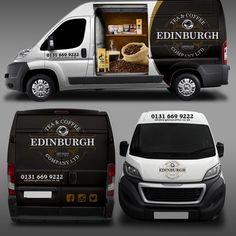 Design a show stopping Van Wrap for Edinburgh Tea and Coffee Co. Car, truck or van wrap contest design Vehicle Signage, Coffee Van, Painted Vans, Combi Vw, Van Wrap, Van Design, Signage Design, Custom Vans, Car Stickers