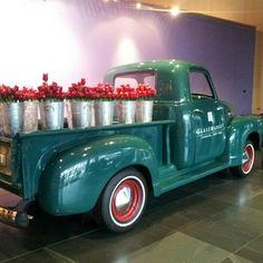 "Instagram via @mfstace ""Old Chevy truck ""delivering"" flowers."" #cmog"