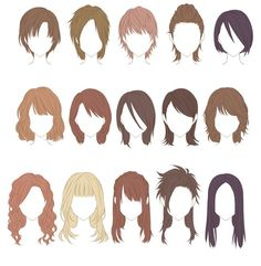Fantasting Drawing Hairstyles For Characters Ideas. Amazing Drawing Hairstyles For Characters Ideas. Figure Drawing Reference, Hair Reference, Art Reference Poses, Anime Drawings Sketches, Easy Drawings, Dress Sketches, Hair Manga, Boy Hair Drawing, Drawing Drawing