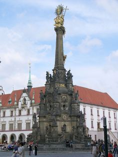 The Holy Trinity Column in Olomouc is a Baroque monument in the Czech Republic, built in 1716–1754 in honour of God. The main purpose was a spectacular celebration of Catholic Church and faith, partly caused by feeling of gratitude for ending a plague, which struck Moravia (now in the Czech Republic) between 1714 and 1716.