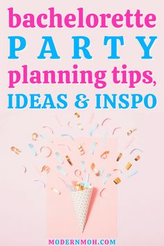 Our top bachelorette party planning tips, ideas and inspiration! #bachelorettepartyideas #bachelorettepartyplanning #bachelorettepartyinspiration #ModernMOH #ModernMaidofHonor