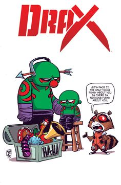 #Drax #Fan #Art. (Drax Vol.1 #1 Baby Variant Cover) By: Skottie Young. ÅWESOMENESS!!!™ ÅÅÅ+