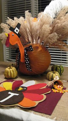 Thanksgiving Turkey Table Ideas #ThanksGiving #Home #Decor ༺༺  ❤ ℭƘ ༻༻