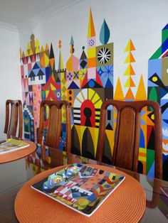 DIY Mary Blair It's a Small World wall mural