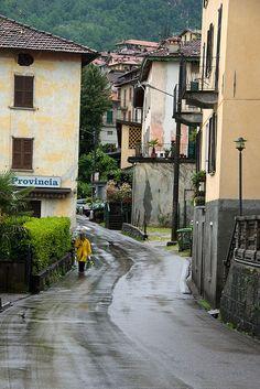 Walking in the Rain - Lezzeno, Lake Como, Italy