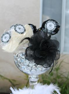 BY TASTY TABLES: black and white candy buffet, masquerade candy buffet, candy buffet san diego, wedding candy buffet