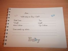 Image detail for -Personalised Baby Shower Guess Book Game