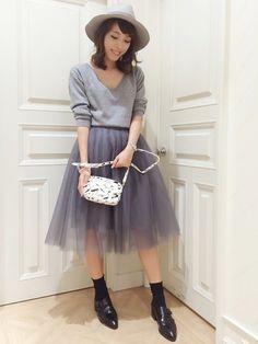 FRAY I.D | kazuki haniokaさんの「FRAY I.D チュールフレアースカート」を使ったコーディネート