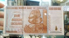 Who wants to be a billionaire? Hyper inflation from Zimbabwe. Dealer #105 at Ruckersville Gallery