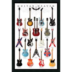 Guitar Heaven Gel-textured Art Print