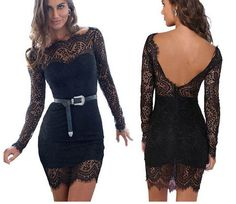 Image of FASHION LACE SHOW BODY HIGH QUALITY DRESS