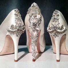 cbc8b924335 Freya Rose embellished heel detail. Wedding Heels