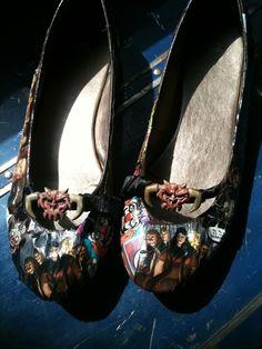 "Dethklok Comic Shoes...when I saw these, I said, outloud, ""OH MY FRICKIN' GOD"""