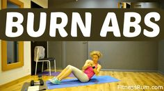 RU66-18 Minute Abs Workout Toned Core And Total Body Fat Burning Exercis...