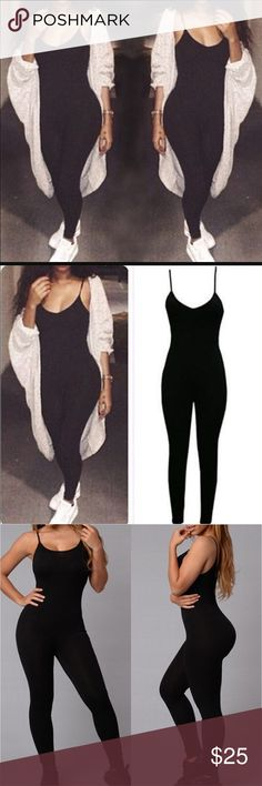 """HOT PICK""""Not So Basic"""" Jumper❤️ Can dress up or down! Wear with Jordan's, Nikes, Chuck Taylor or Heels and Boots! Wear hear tied up or down. This look is so versatile!!!!!not from listed brand  Hugs curves great!!!!   Price is FIRM ALL JUMPSUIT ARE BRAND NEW. This is a NEW SUPER TRENDY STYLE SAME ONE SOLD AT FASHION NOVA LADIES! American Apparel Dresses Mini"""