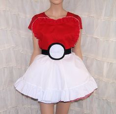 Pokemon Cosplay Pinafore Apron Costume Skirt Adult by mtcoffinz, $85.00