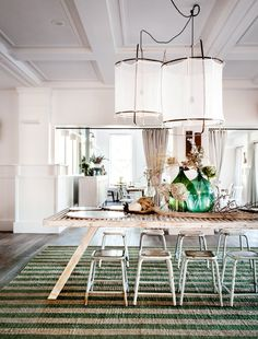 Astounding Dining Room Lighting Inspiration Ideas Plus Wooden Table And Small Stools With Wide Area Rug