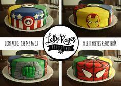Avengers cake, Marvel cake, fondant decoration, Pastel de los Vengadores, decoración en fondant
