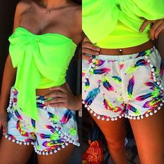 bright summer neon colours perfect for summer