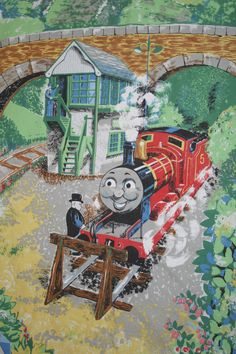 Thomas The Train Pillowcase Amusing Vintage Britt Allcroft 1989 Thomas Train Tank Engine Duvet Cover Decorating Inspiration