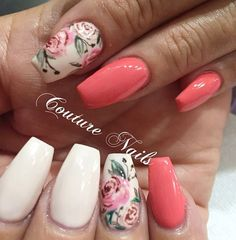 21 Summer Coffin Nails at CherryCherryBeauty.com