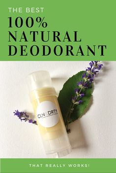 Natural Deodorant Lemon Eucalyptus with Essential by CLNandDRTY