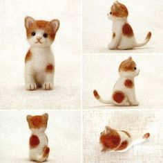 DIY handmade Japanese Felt Wool Cat Kit Packages  by MeMeCraftwork, $20.00