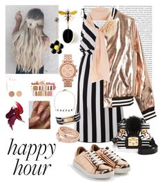 """Ajeng Dapa Happy Hour"" by ajengdapa03 ❤ liked on Polyvore featuring Oris, JustFab, Marc Jacobs, Sans Souci, Furla, River Island, FOSSIL, Ryan Porter, Tory Burch and BHCosmetics"