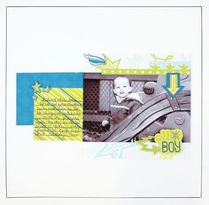 All Boy Be Young Stack Pack #Scrapbook Layout Project Idea from Creative Memories  http://www.creativememories.com