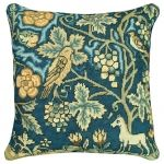 Needlepoint English Tapestry Stag / Owl Pillow