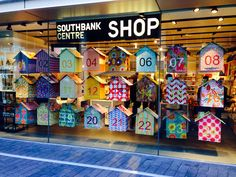 Little houses advent calendar window display on the southbank London #carrymehome