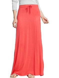 Womens Drawstring Jersey-Maxi Skirts | Old Navy  // i have looked for you everywhere!