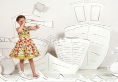 Poppy London has a spotty collection in summery bright colour for its kidswear spring 2014