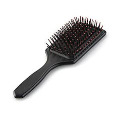 Large massage with brush for straight or curly hair Black Handle Head