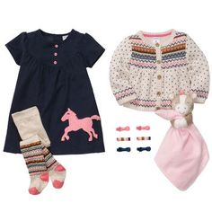 Printed Pretty Pony, love this carters stuff ; Toddler Outfits, Kids Outfits, Cute Outfits, Carters Baby Girl, Baby Girls, Equestrian Chic, Baby Fish, Baby Necessities, Girl Day