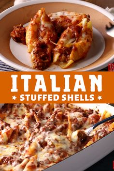 Italian Stuffed Shells - The ingredients and how to make it please visit the website Cheap Pasta Recipes, Spinach Pasta Recipes, Pasta Dinner Recipes, Pasta Dinners, Healthy Pasta Recipes, Sausage Recipes, Pasta Lunch, Noodle Recipes, Simple Recipes