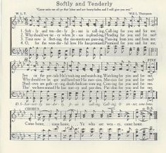 Softly and Tenderly Christian Love, Christian Songs, Music Sheets, Sheet Music, Softly And Tenderly, Song Sung Blue, Hymns Of Praise, Old Time Religion, Jim Reeves