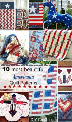 10 Most Beautiful Americana Quilt Patterns DIY Crush,