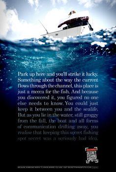 Print ad: Hutchwilco: Secret Fishing Spots