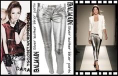 Silver Leather Biker pants- 2700.00 €