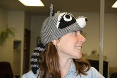 [Insert Clever Name Here]: Raccoon Hat Free Crochet Pattern