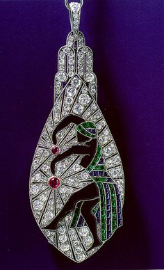 Fine Jewelry - art deco pendant necklace