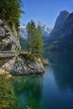 Gosau Lake with Dachstein mountain massif - Upper Austria, Austria