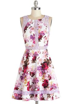 Lavender lace details and a classic fit and flare silhouette? TGI Florals!