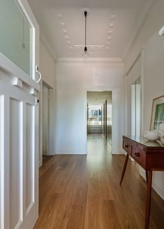 Image 5 of 12 from gallery of House Boone Murray / Tribe Studio Architects. Photograph by Peter Bennetts Architect House, Architect Design, Brick Extension, Living Place, Living Area, Entry Hallway, Entrance Hall, Foyer, 1920s House